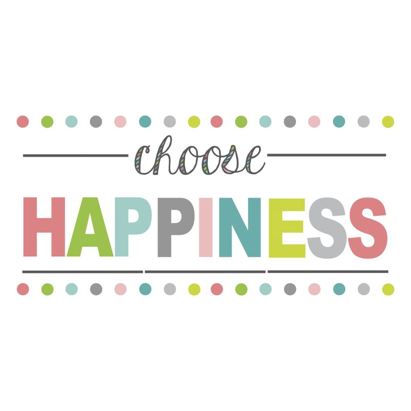 Brewster WPE1178 Choose Happiness Quote Home Decor Wall Decals