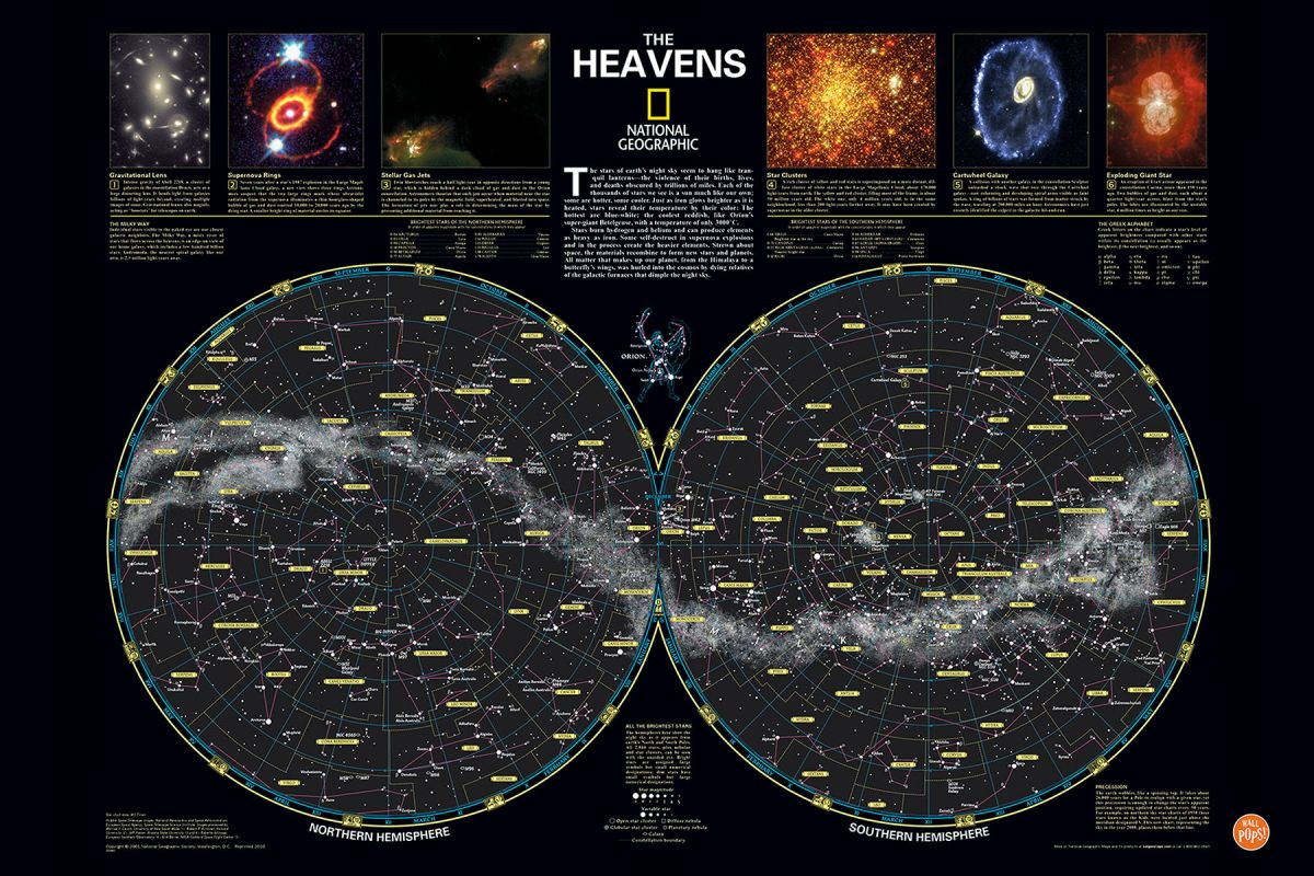 Brewster WPK1299 Heavens Nat Geo Poster Decal Home Decor Wall