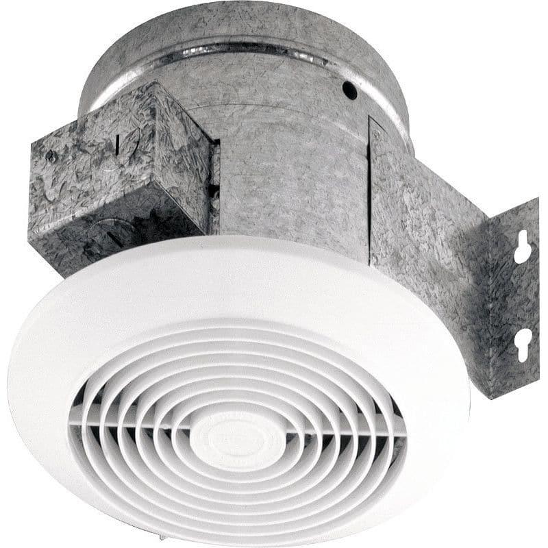 Broan 673 60 CFM 4.5 Sone Ceiling Mounted HVI Certified Bath Fan White