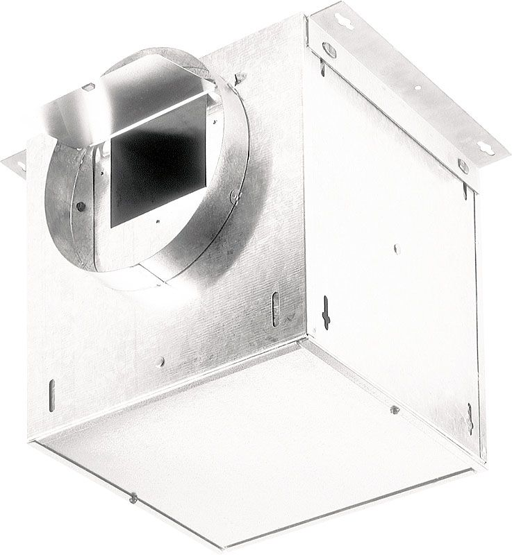 Broan L100L 108 CFM 0.8 Sone In-Line Ventilator Galvanized Steel Fans