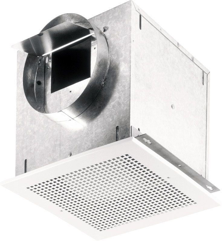 Broan L100MG 121 CFM 0.9 Sone Ceiling or Wall Mounted Ventilator White