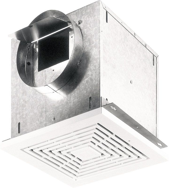 Broan L200 214 CFM 2 Sone Ceiling or Wall Mounted Ventilator White