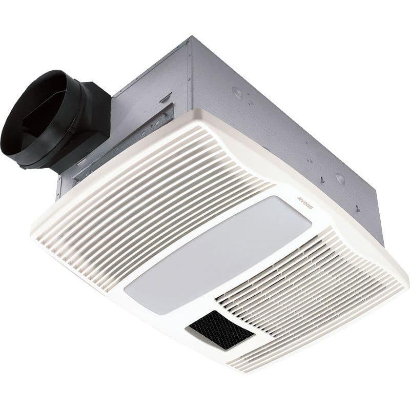 Broan QTX110HL 110 CFM 0.9 Sone Ceiling Mounted HVI Certified Bath Fan