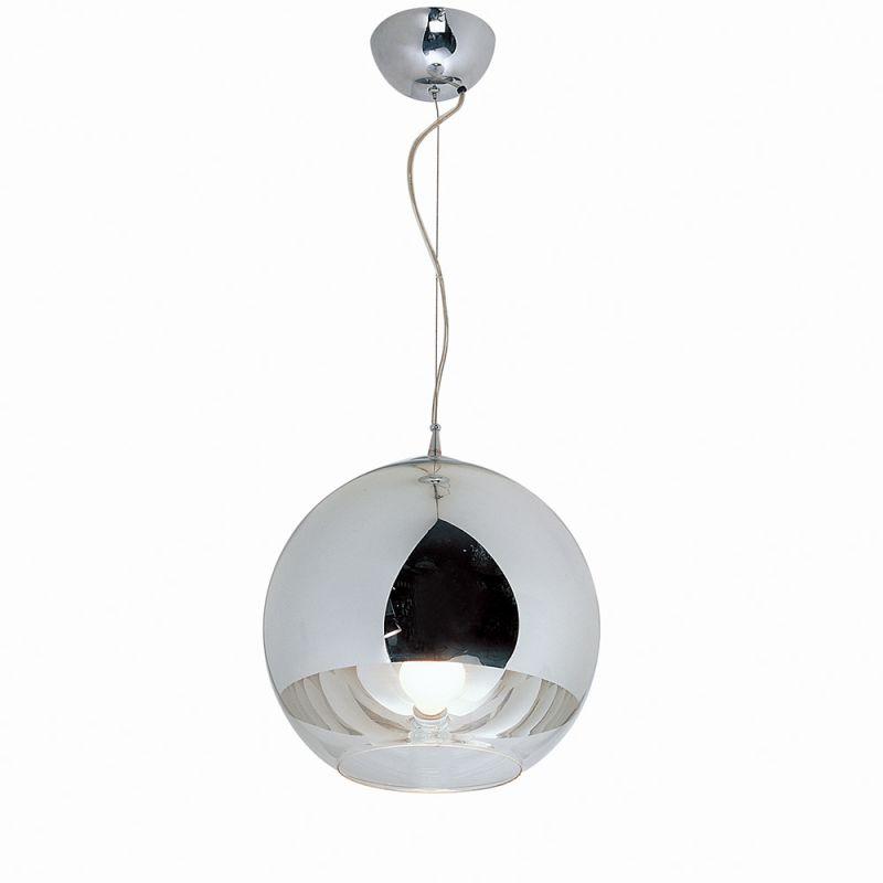 Bromi Design B-GK580-30 Orion 1 Light Pendant Chrome Indoor Lighting