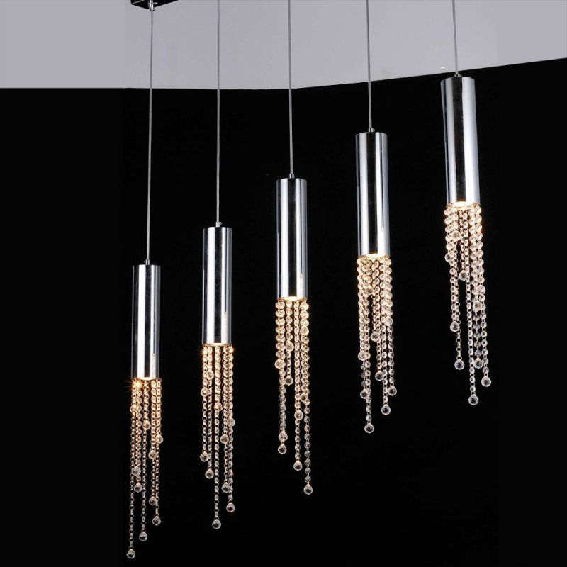 Bromi Design B-KR002P-5A Jael 5 Light Large Pendant Chrome Indoor Sale $378.00 ITEM: bci2267075 ID#:B-KR002P-5A UPC: 700729016572 :