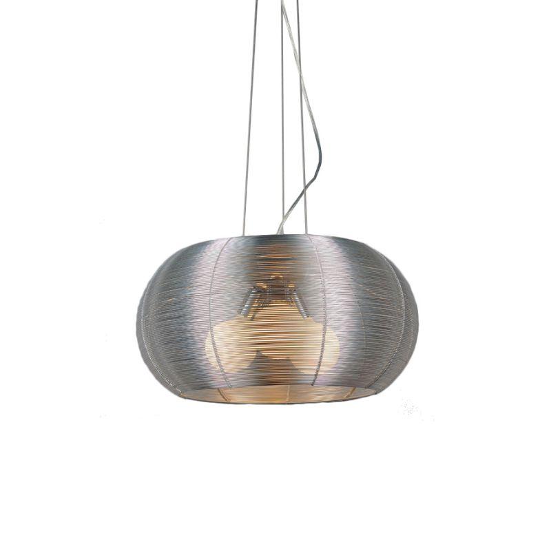 Bromi Design B1401 Lenox 3 Light Modern Pendant Stainless Steel Indoor