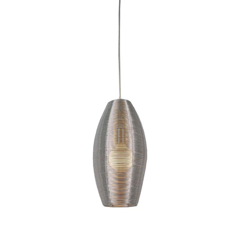 Bromi Design B1403 Lenox 1 Light Round Pendant Stainless Steel Indoor