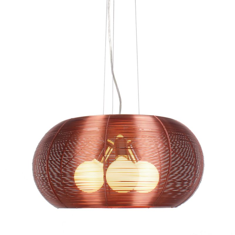 Bromi Design B1404 Lenox 3 Light 18.9&quote Width Full Sized Pendant Maroon