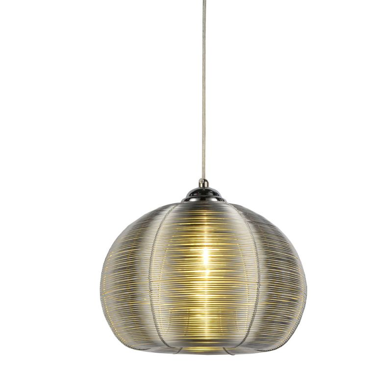 Bromi Design B1409 Lenox 1 Light 11&quote Width Full Sized Pendant Silver