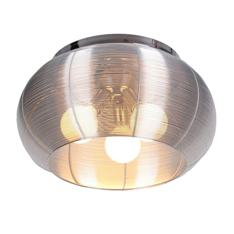 Bromi Design B1410 Lenox 3 Light Flush Mount Ceiling Fixture Silver