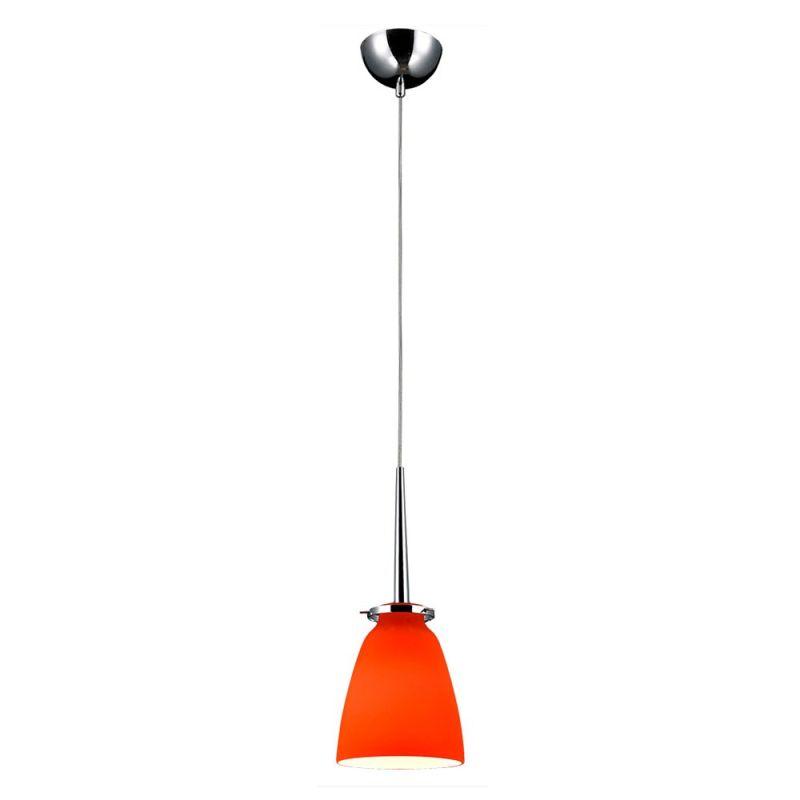 Bromi Design B3002O Belmont 1 Light Mini Pendant with Orange Shade