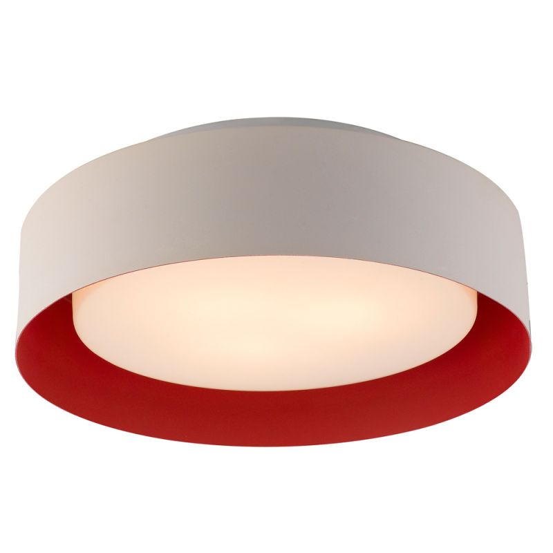 Bromi Design B4101 Lynch 3 Light White and Red Drum Pendant White and
