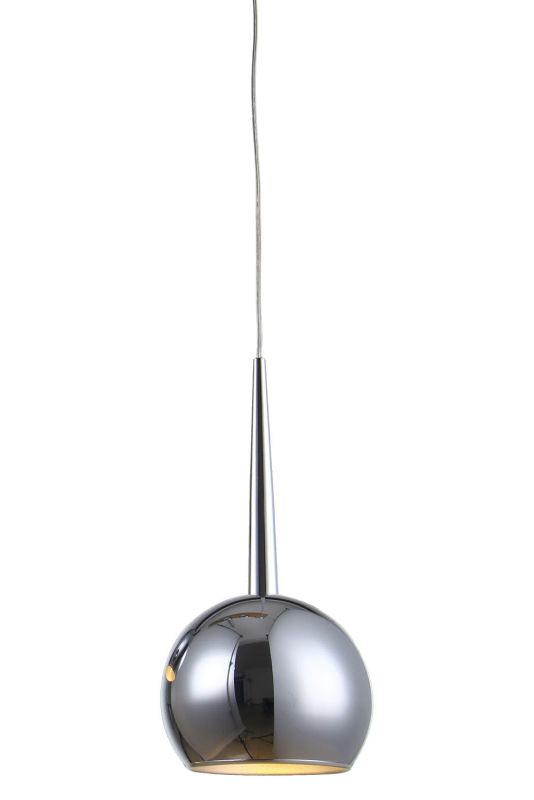 "Bromi Design B4202 Wade 43.3"" Round 1 Light Pendant with Chrome Shade"