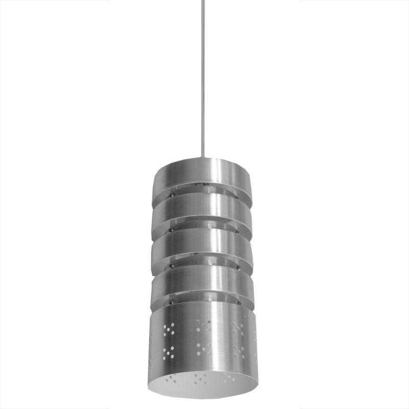 "Bromi Design B5101-1 Camden 1 Light 9"" Height Mini Pendant Silver"