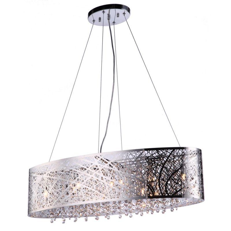 Bromi Design B8101C Royal 9 Light Linear Chandelier Chrome Indoor