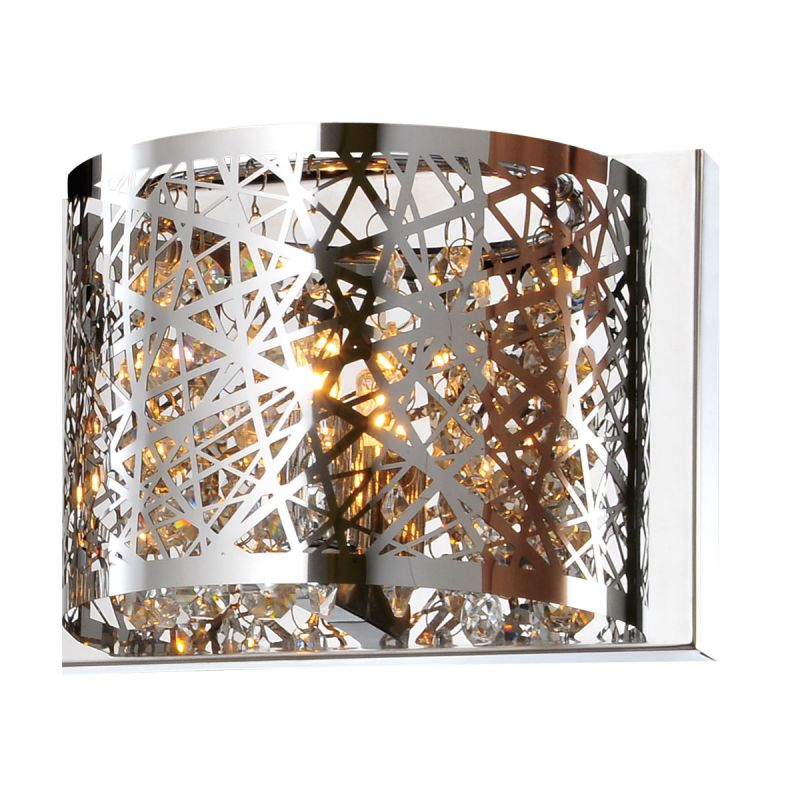 "Bromi Design B8111 Royal 5.3"" Tall 1 Light Wall Sconce Chrome Indoor"