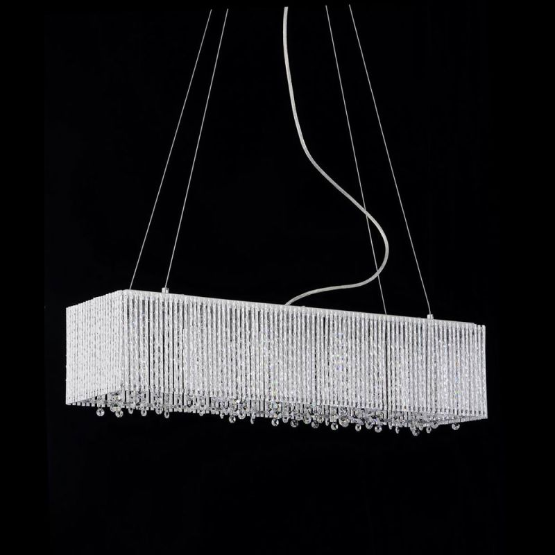Bromi Design BCP1113-6 Crystalline 6 1 Tier Linear Crystal Chandelier