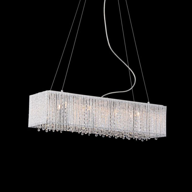 Bromi Design BCP1113-8 Crystalline 8 1 Tier Linear Crystal Chandelier
