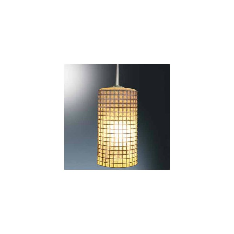 Bruck Lighting 110114 Line Voltage Pendant with Amber Glass with Wire