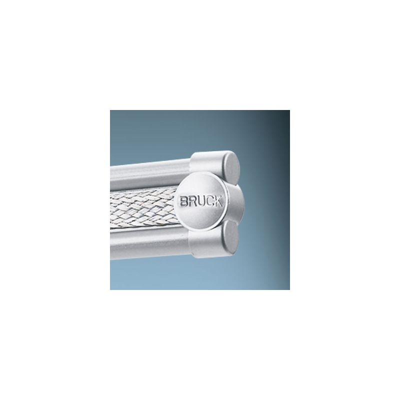 Bruck Lighting 140190 End Cap for the Enzis Track System Matte Chrome