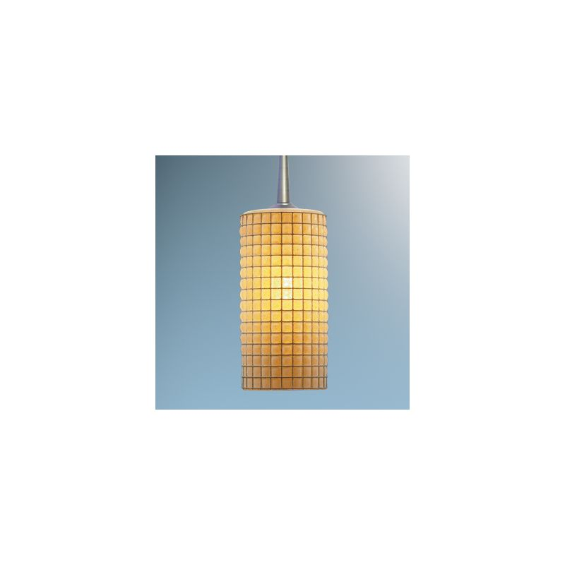 Bruck Lighting 320114 Line Voltage Glass Pendant with Wire Mesh
