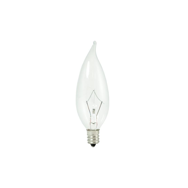 Bulbrite 460325 Pack of (10) 25 Watt Dimmable CA10 Shaped Candelabra