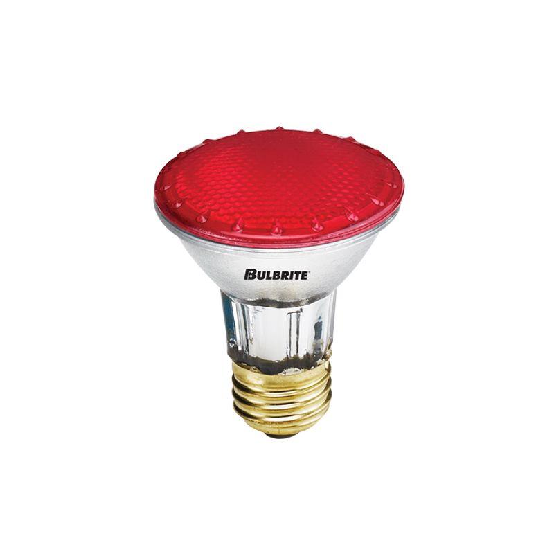 Bulbrite 683507 Pack of (5) 50 Watt Red Dimmable PAR20 Shaped Medium