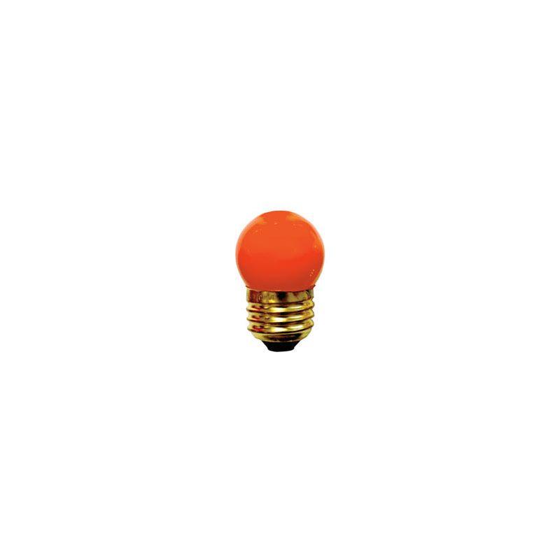 Bulbrite 702507 Pack of (25) Orange 7.5 Watt E26 Base Bulbs Orange