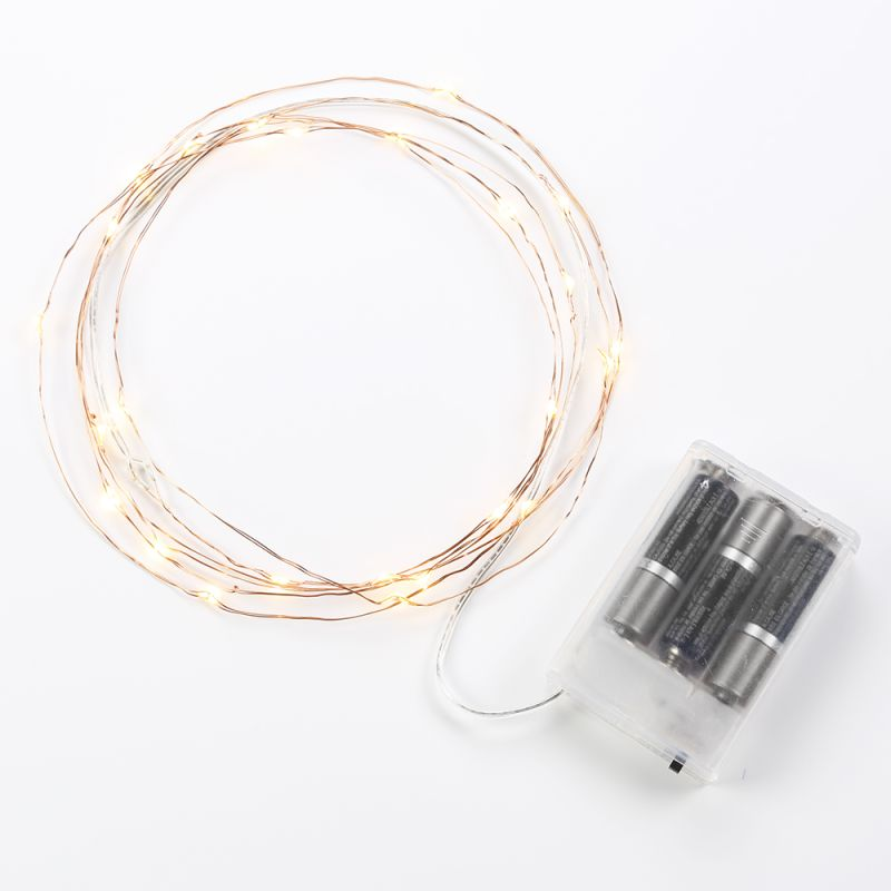 Bulbrite 860335 10´ LED Battery Operated Indoor Single-Strand String