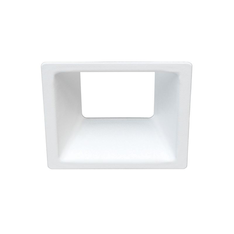 Bulbrite 775725 ELEVA Magnetic Retrofit Square Reflector Trim White