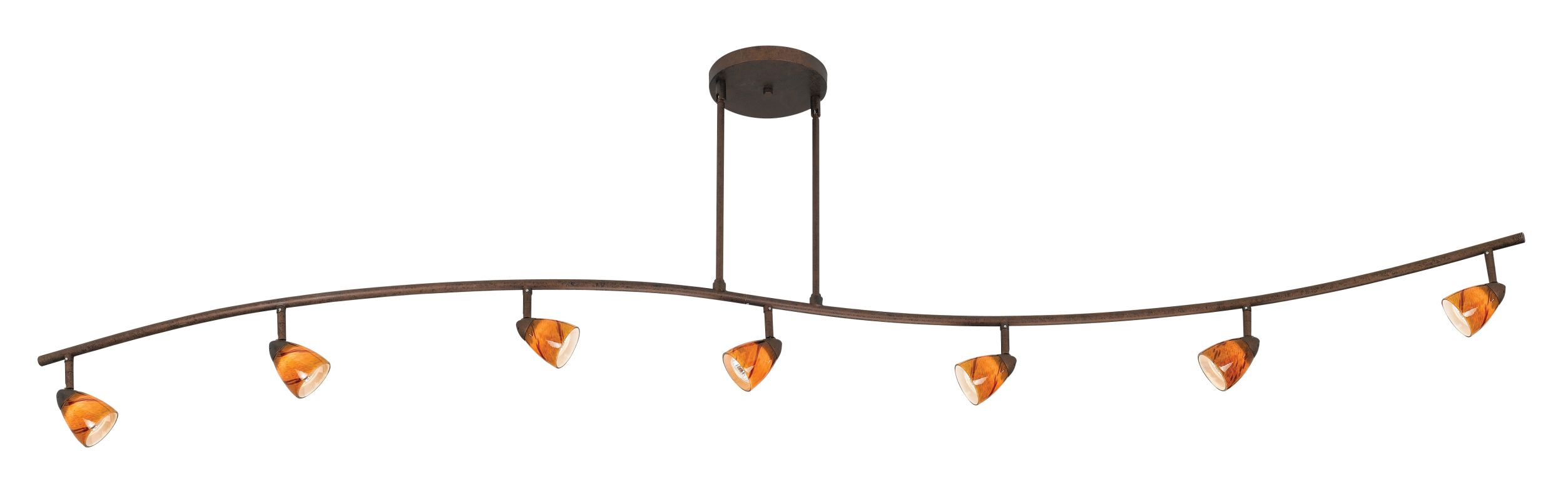 Cal Lighting 954-77L-AMS Seven Light with Depth Serpentine Light with Sale $478.20 ITEM: bci888422 ID#:954-77L-RU/AMS UPC: 20193056851 :