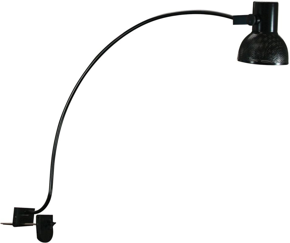 Cal Lighting BO-6123 120V 75W PAR30 Short Neck Arc Arm Clamp On Lamp