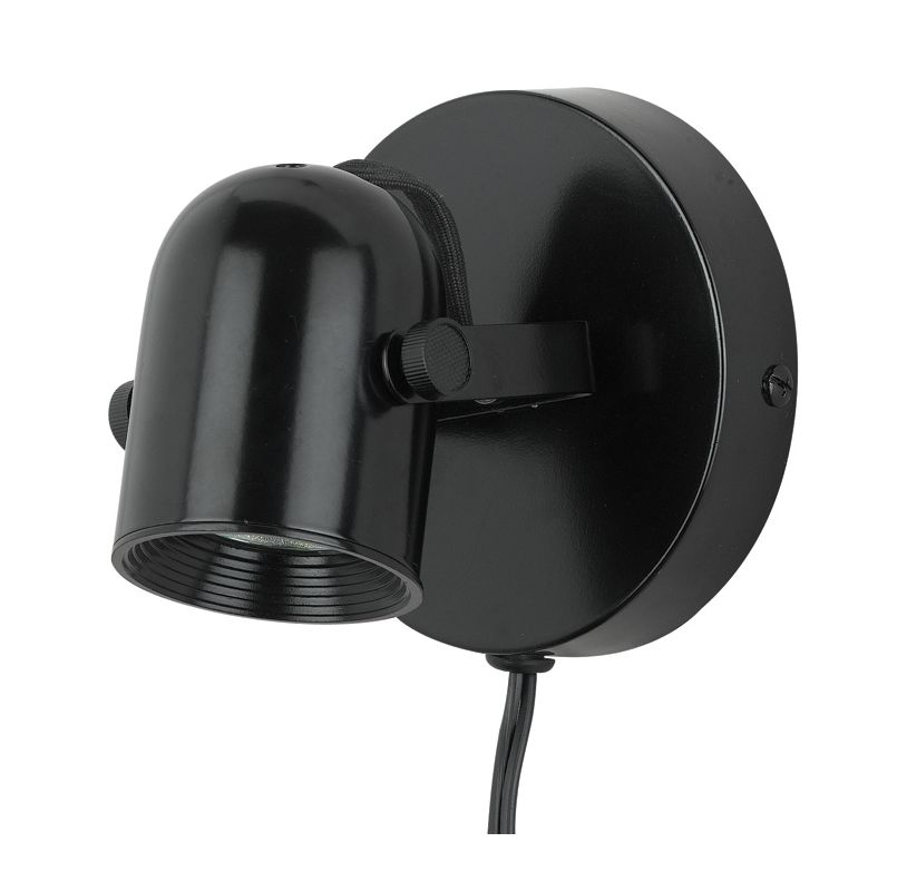 Wall Mounted Track Lights : Cal Lighting BO-998-BK Black One Light Wall / Ceiling Mount Track Head with 5.5ft. Cord and ...