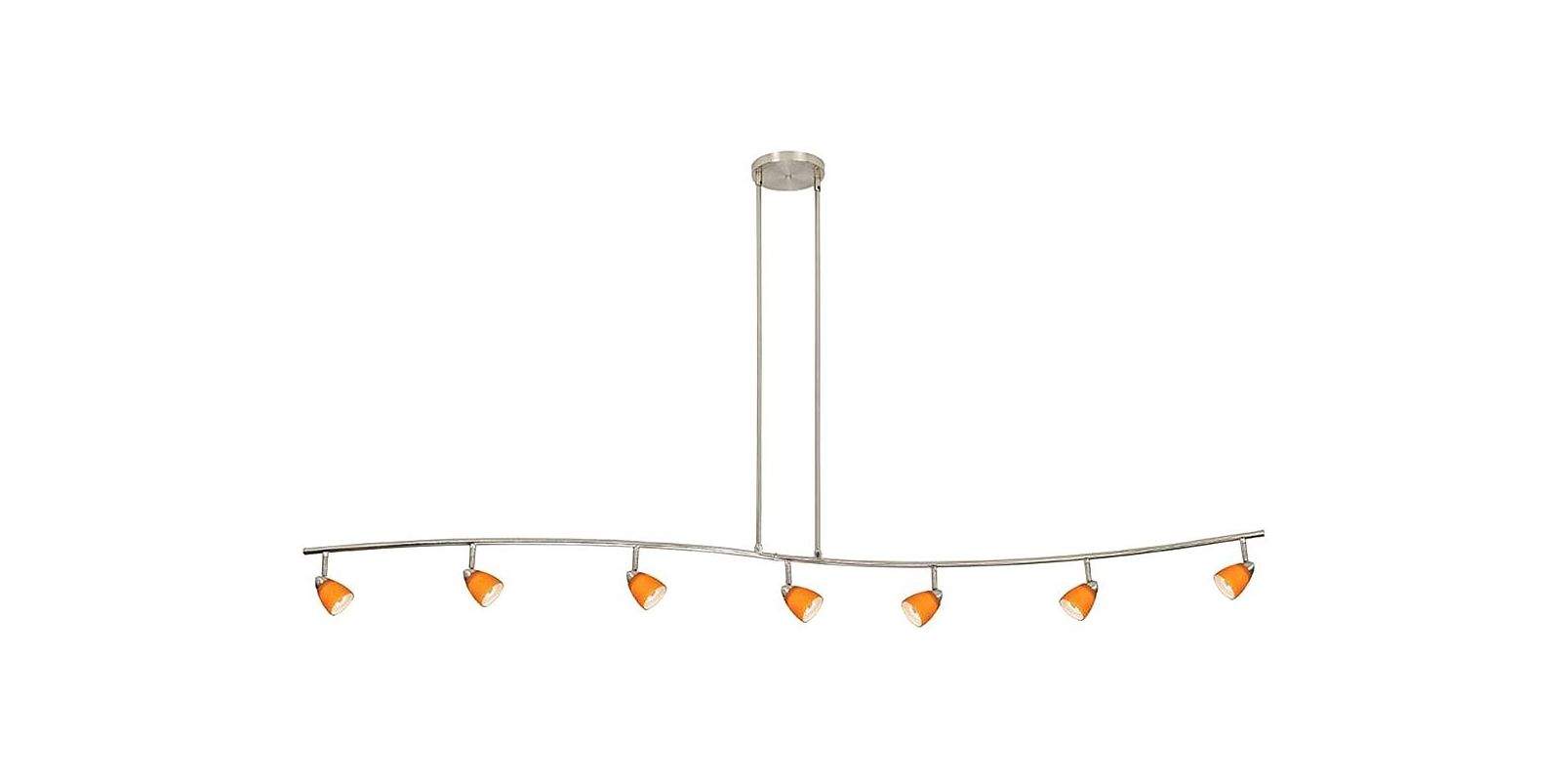 Cal Lighting 954-77L-AMS Seven Light with Depth Serpentine Light with Sale $478.20 ITEM: bci888400 ID#:954-77L-BS/AMS UPC: 20193056431 :