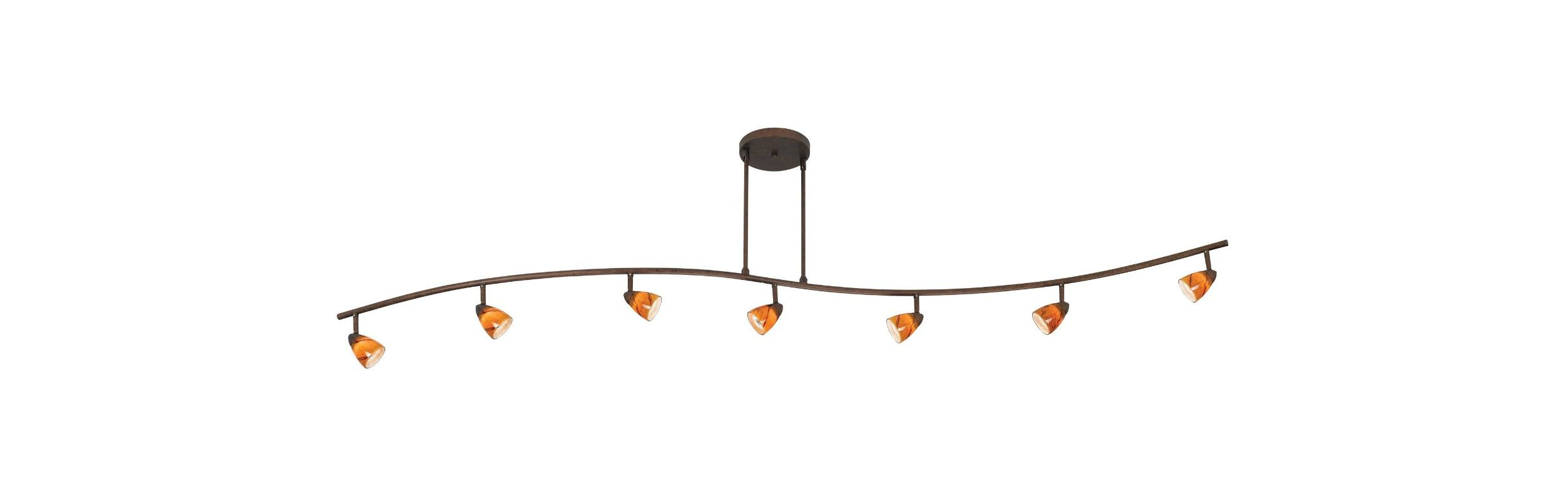 Cal Lighting 954-77L-AMS Seven Light with Depth Serpentine Light with Sale $478.20 ITEM: bci888411 ID#:954-77L-DB/AMS UPC: 20193056646 :