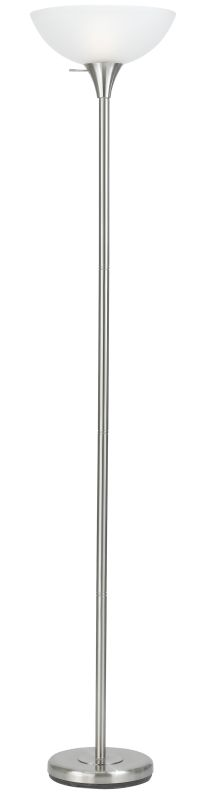 Cal Lighting BO-2055 1 Light Pedestal Base Torchier Floor Lamp Brushed