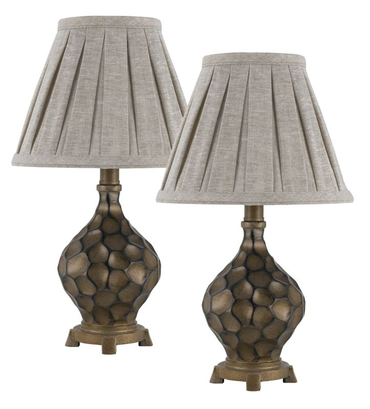Cal Lighting BO-2345AC/2 1 Light Pedestal Base Table Lamp Set - Pack Sale $174.60 ITEM: bci2379720 ID#:BO-2345AC/2 UPC: 20193132913 :
