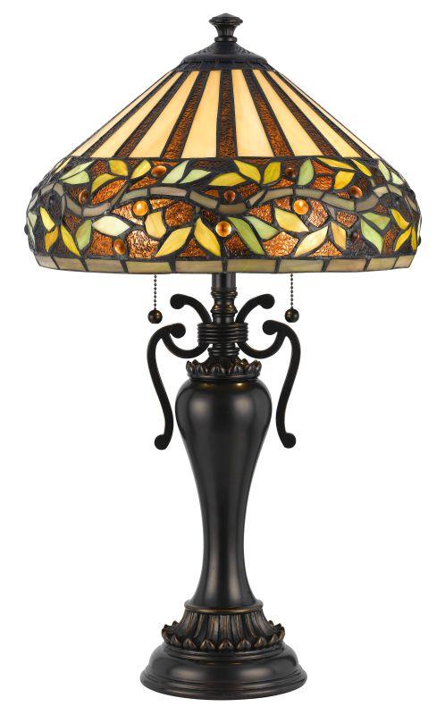 Cal Lighting BO-2356TB Tiffany 2 Light Pedestal Base Table Lamp Dark Sale $316.80 ITEM: bci2379736 ID#:BO-2356TB UPC: 20193133088 :