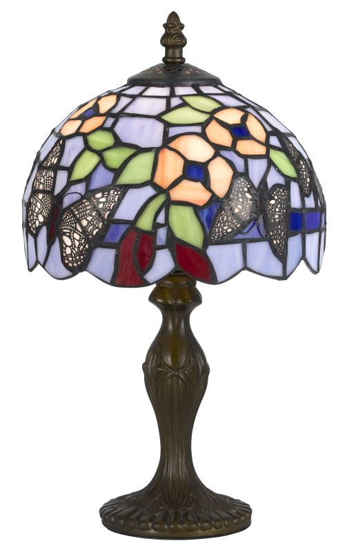 Cal Lighting BO-2378AC Tiffany 1 Light Pedestal Base Table Lamp Dark Sale $150.50 ITEM: bci2379762 ID#:BO-2378AC UPC: 20193133491 :