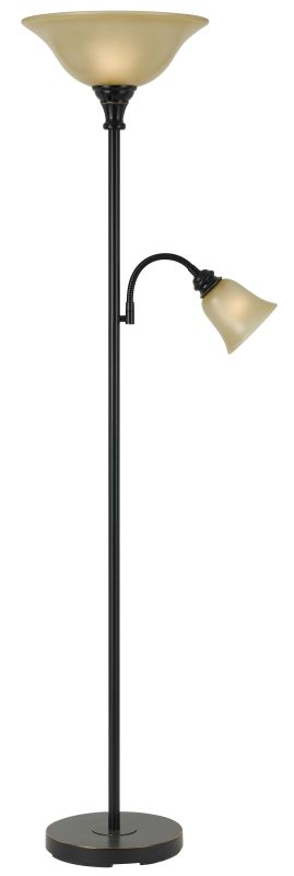 Cal Lighting BO-2391TR 2 Light Pedestal Base Torchier Floor Lamp Dark