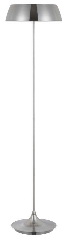 Cal Lighting BO-2440FL 40W X 3 Janeiro Metal Floor Lamp Silver Lamps