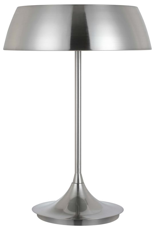 Cal Lighting BO-2440TB 40W X 3 Janeiro Metal Table/Desk Lamp Silver