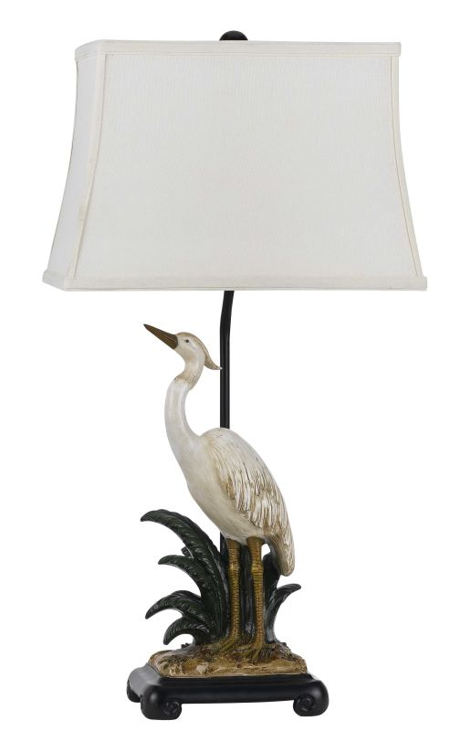 Cal Lighting BO-2487TB Clearwater 1 Light Pedestal Base Table Lamp