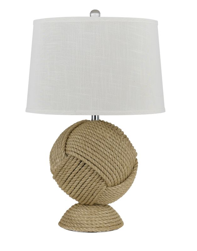 Cal Lighting BO-2569TB Reynosa 1 Light Pedestal Base Table Lamp Rope Sale $270.70 ITEM: bci2379832 ID#:BO-2569TB UPC: 20193152218 :