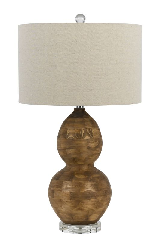 Cal Lighting BO-2570TB Bergamo 1 Light Pedestal Base Table Lamp Wood / Sale $288.40 ITEM: bci2379833 ID#:BO-2570TB UPC: 20193152225 :