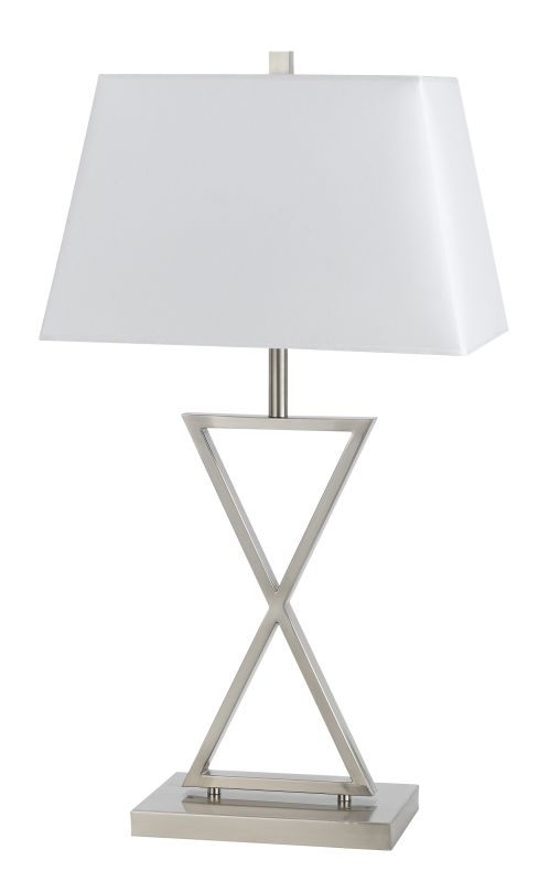 Cal Lighting BO-2580TB Z 1 Light Pedestal Base Table Lamp Brushed Sale $151.80 ITEM: bci2379851 ID#:BO-2580TB UPC: 20193152515 :