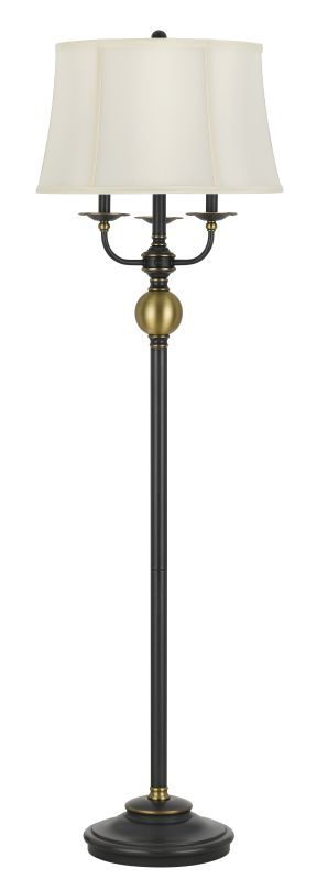 Cal Lighting BO-2586-6WY Winchester 3 Light Floor Lamp with Faux Silk Sale $327.60 ITEM: bci2559118 ID#:BO-2586-6WY UPC: 20193155967 :