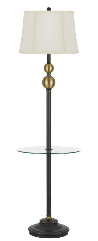 Cal Lighting BO-2586GT Winchester 1 Light Floor Lamp with Glass Table