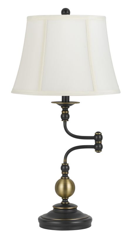 Cal Lighting BO-2586SWTB Ellenton 1 Light Swing Arm Table Lamp Oil