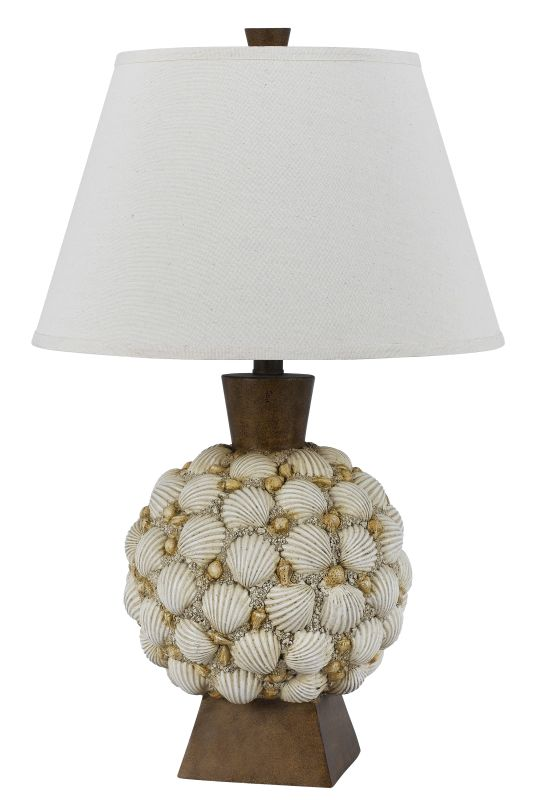 Cal Lighting BO-2614TB Seashell 1 Light Table Lamp Shell Lamps Sale $199.90 ITEM: bci2620664 ID#:BO-2614TB UPC: 20193157282 :